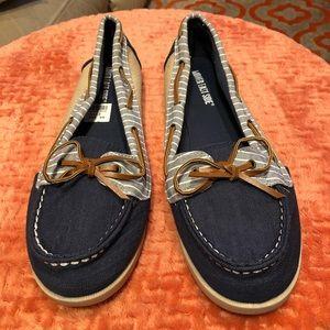 Lower East Side Women's Denim Boat Shoes Size 12